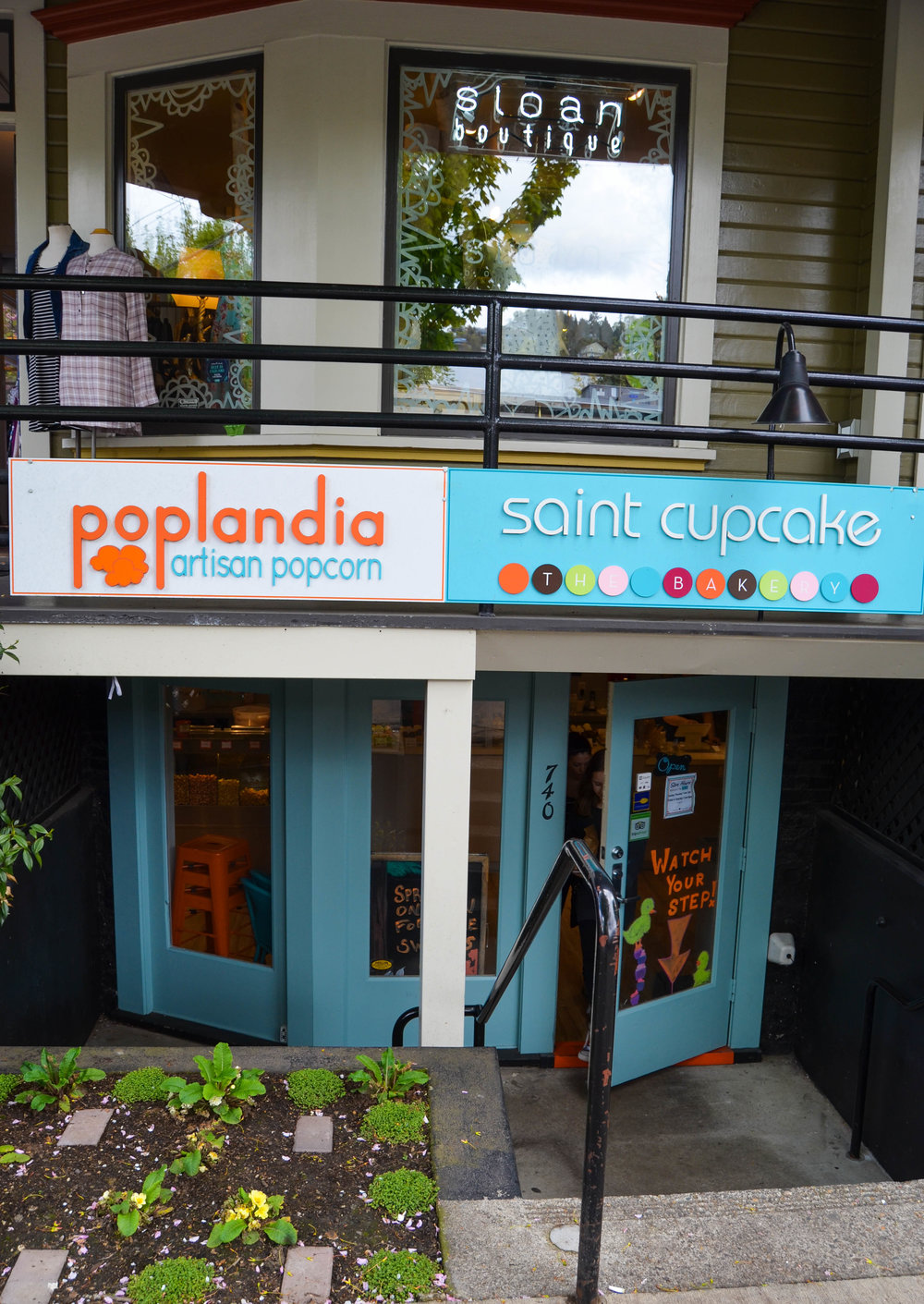 Sloan Boutique on top of Poplandia and St. Cupcake  -738 NW 23rd Ave.
