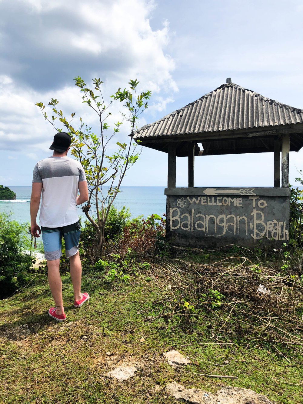 lookout point at Balangan Beach