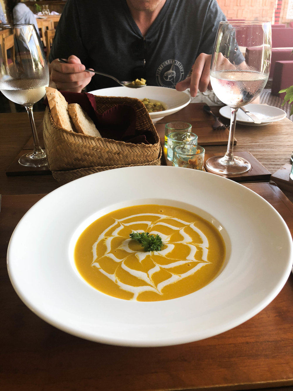 The best spicy pumpkin soup with coconut milk