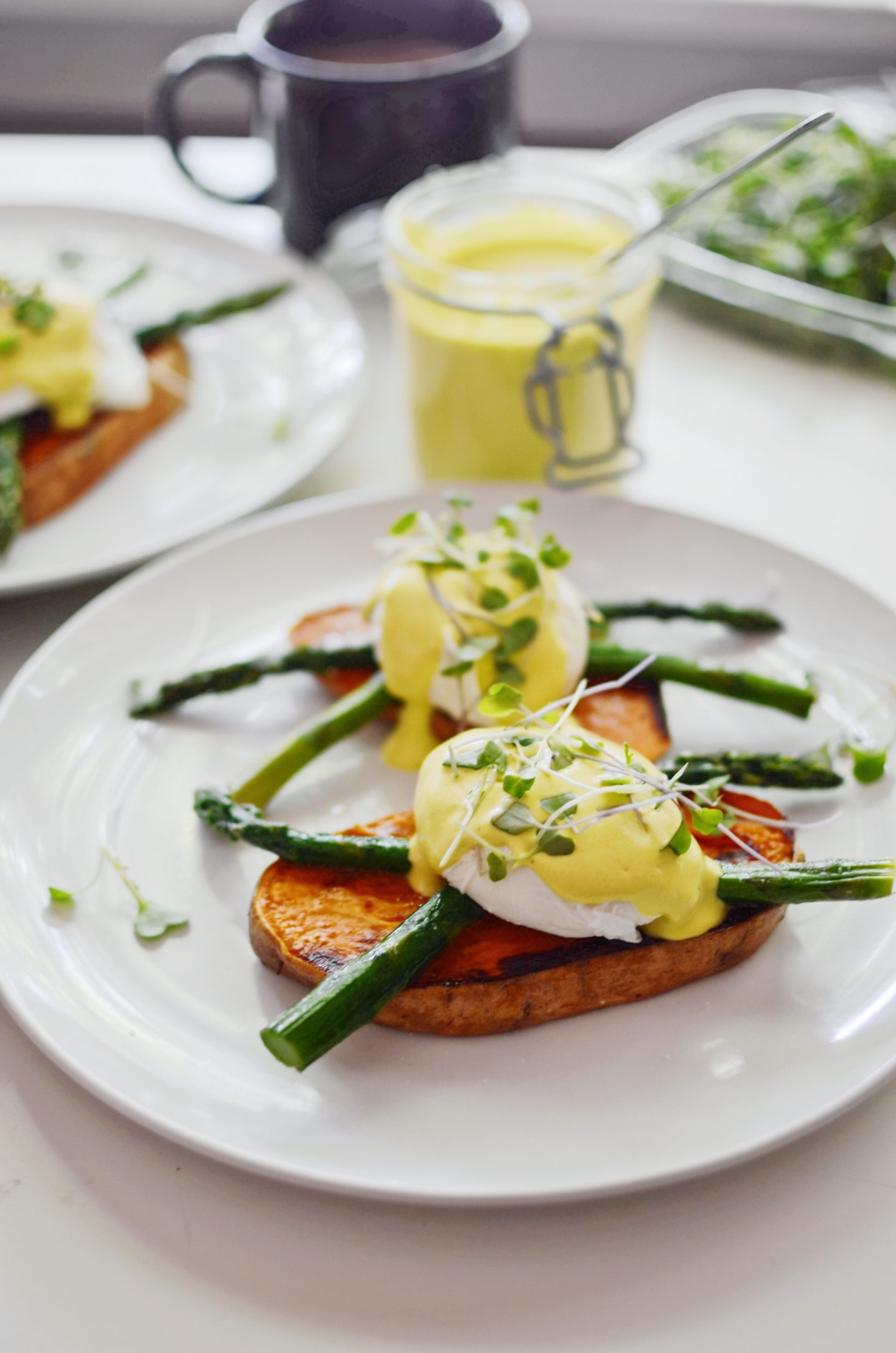 Sweet Potato Eggs Benny with Cashew Hollandaise